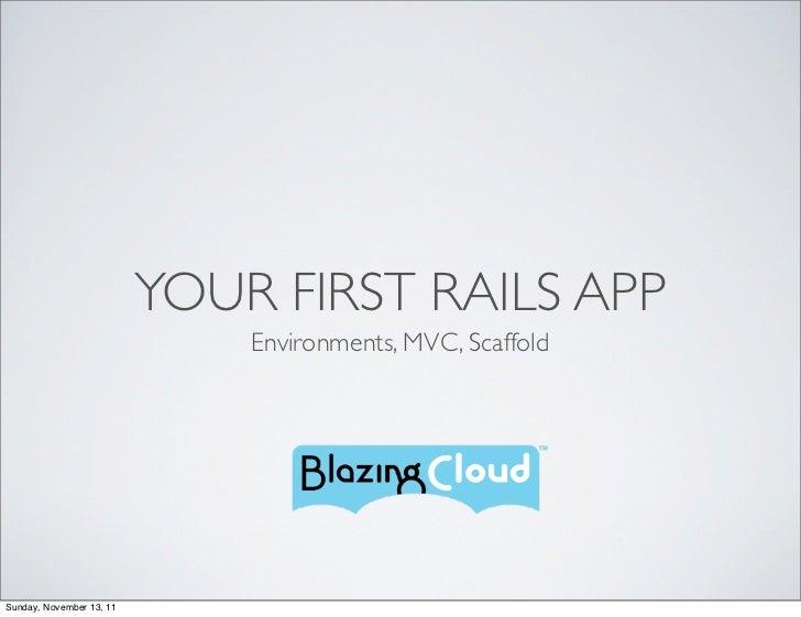 YOUR FIRST RAILS APP                              Environments, MVC, ScaffoldSunday, November 13, 11