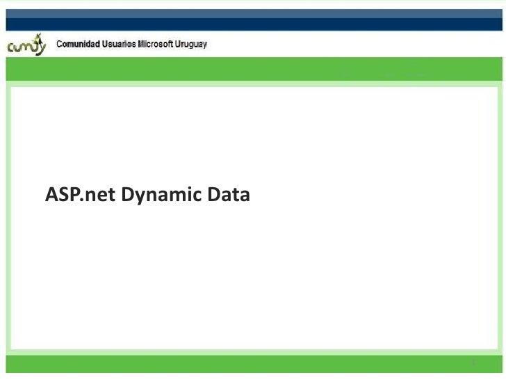 ASP.net Dynamic Data                            1