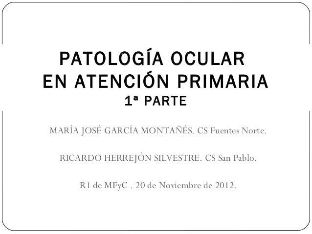 (2012-11-20) Oftalmologia en a.p. (ppt)