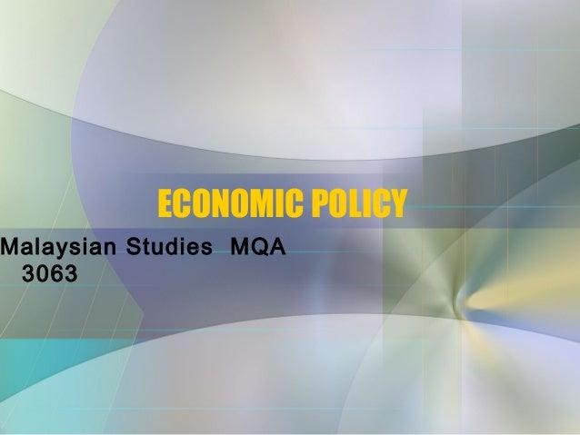 20. economic policy