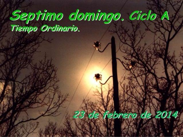 Septimo domingo. Ciclo A Tiempo Ordinario.  23 de febrero de 2014 Parroquia de san Diego