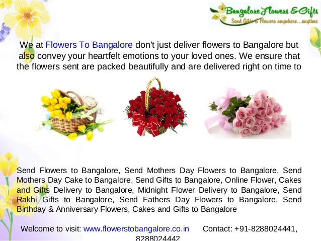 Send Mothers Day Flowers To Bangalore