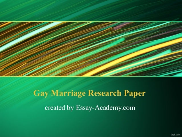 Gay Marriage Exploratory
