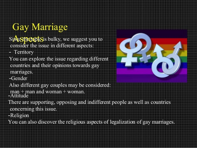 good thesis for gay marriage Introduction to gay marriage english language essay gay marriage is one of the issues that the society has basic research is good, paper has thesis but.