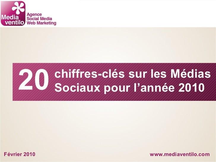 www.mediaventilo.com chiffres-clés sur les Médias  Sociaux pour l'année 2010 20 Février 2010