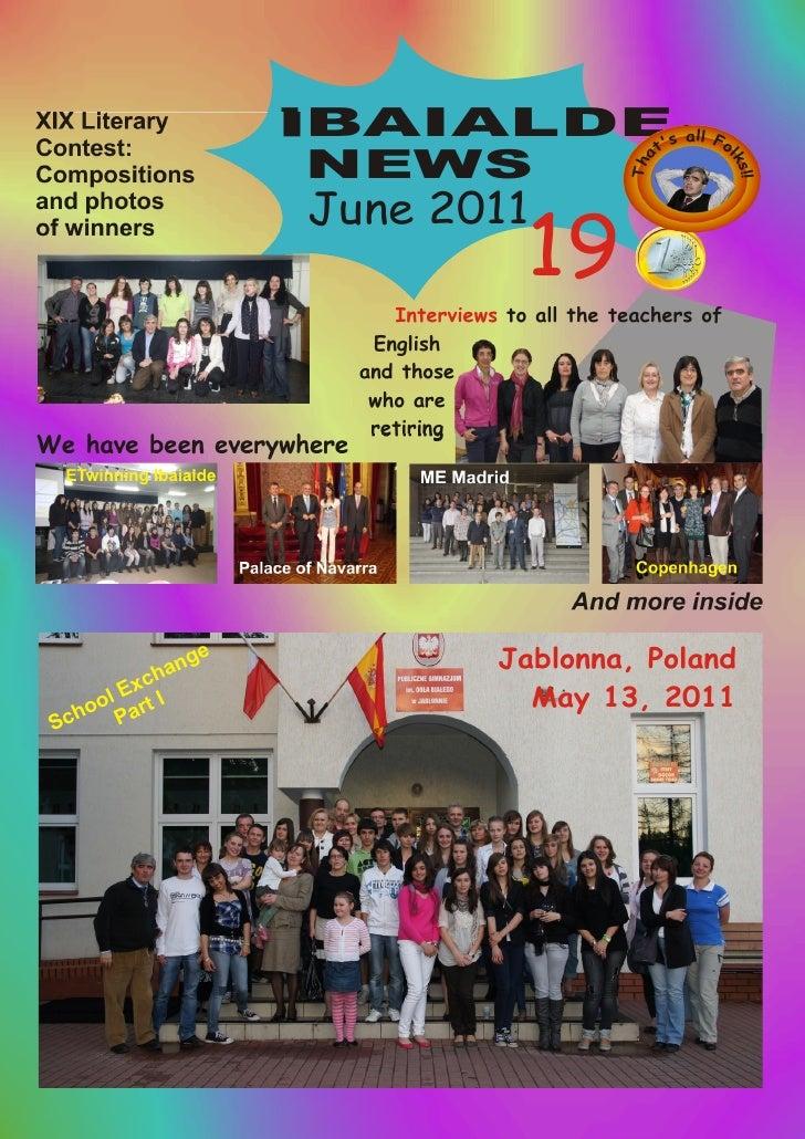 Ibaialde News 19 (June 2011)