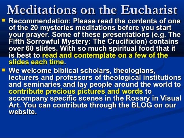 Luminous Mysteries 5: Holy Eucharist