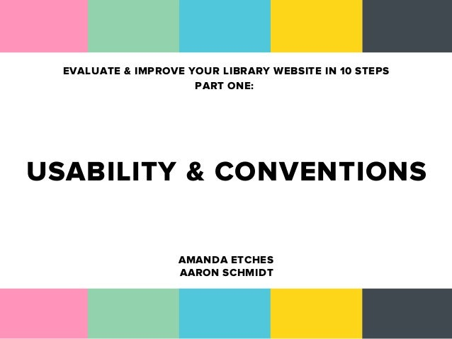 Evaluate and Improve Your Library Website in 10 Steps (Part 1)