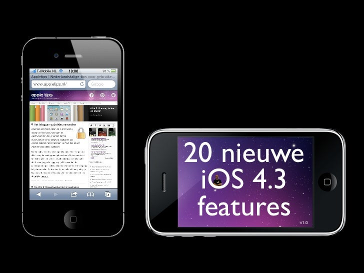 20 nieuwe iOS 4.3 features        v1.0