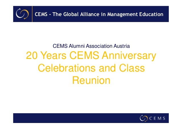 20 Years CEMS Alumni Association Austria