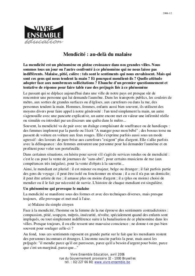 2006-12 Vivre Ensemble Education, avril 2006 rue du Gouvernement provisoire 32 – 1000 Bruxelles tél. : 02/227 66 80; www.v...