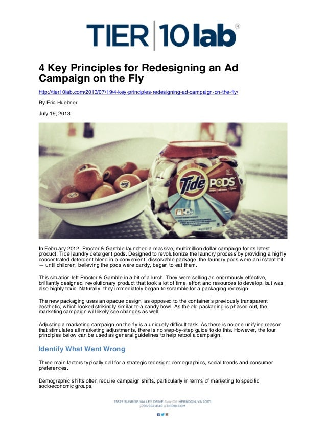 4 Key Principles for Redesigning an Ad Campaign on the Fly