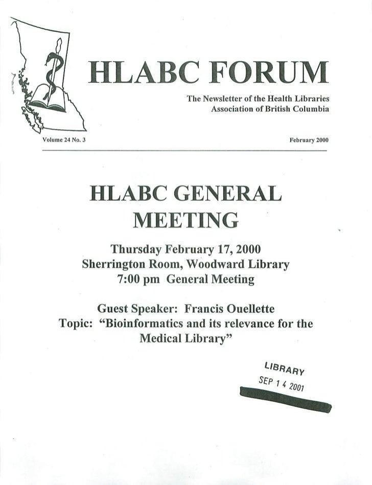HLABC Forum: February 2000