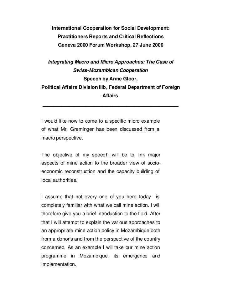 International Cooperation for Social Development:        Practitioners Reports and Critical Reflections        Geneva 2000...