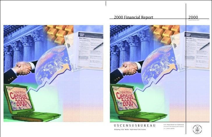 2000 Financial Report                                                           2000                                      ...