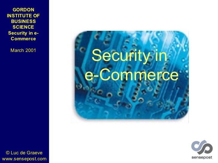 Security in e-commerce