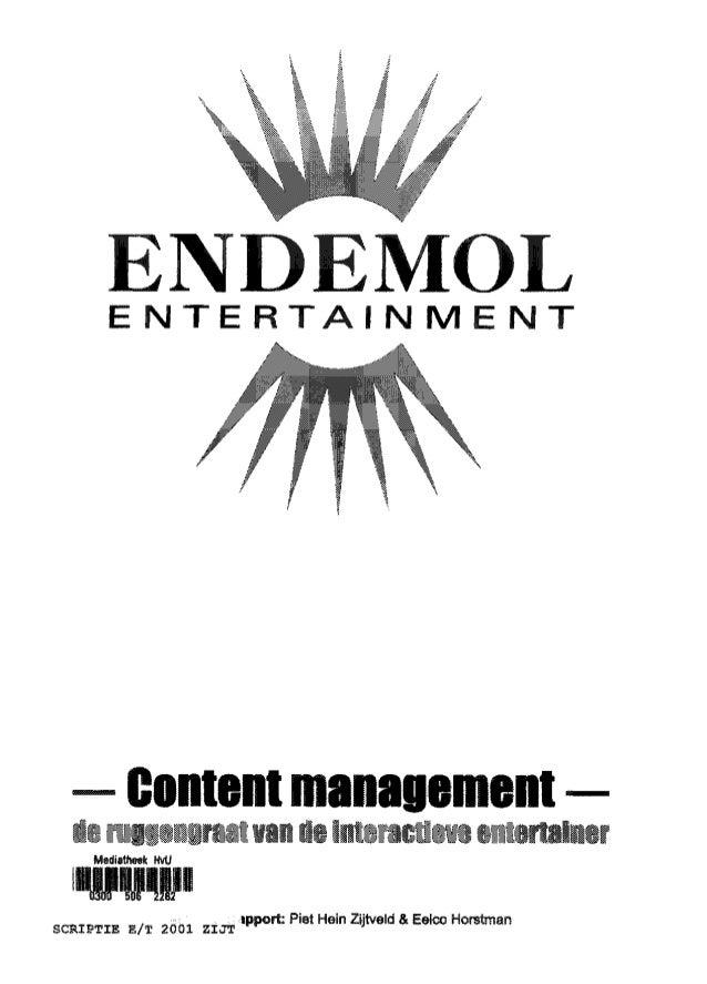 Content management - de ruggengraat van de interactieve entertainer