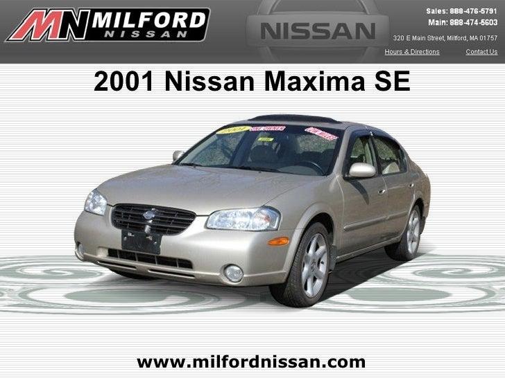2001 Nissan Maxima SE  www.milfordnissan.com