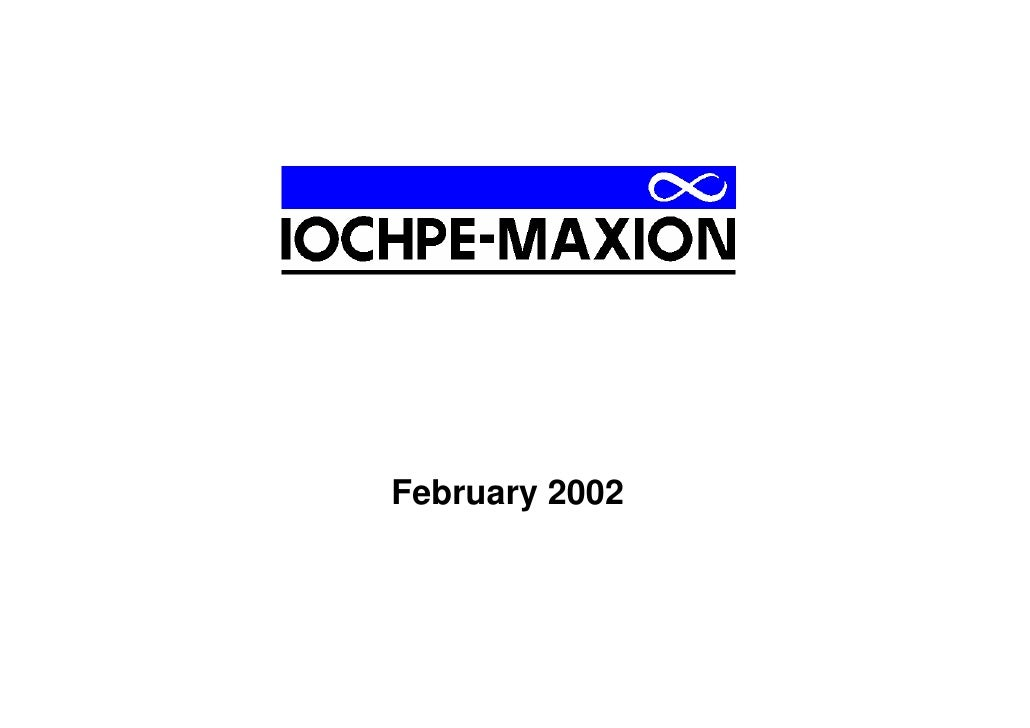 Iochpe-Maxion - 2001 Presentation With Photos
