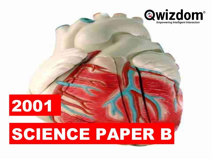 2001 science paper b - qwizdom ppt.
