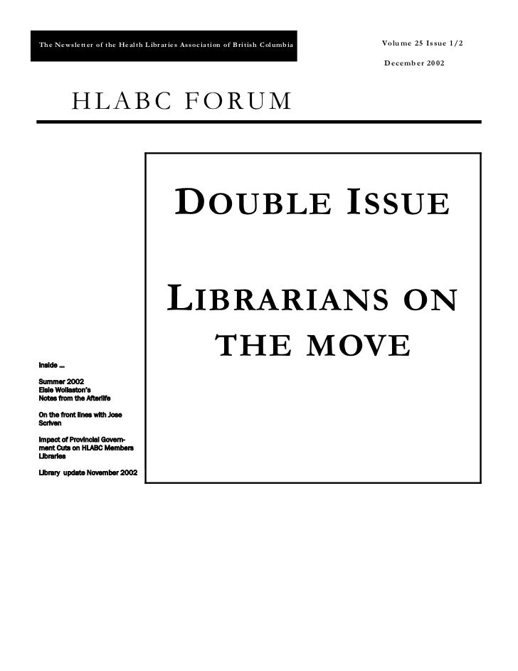 HLABC Forum: December 2002