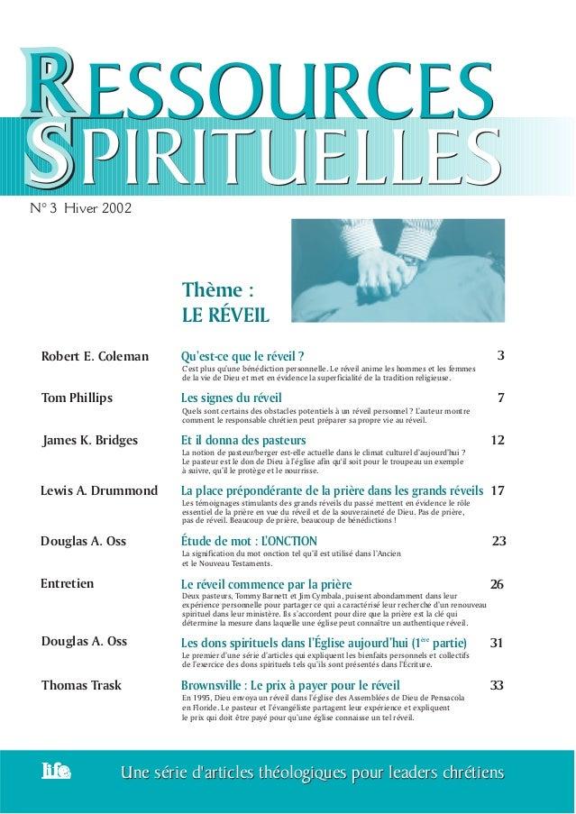 Une série d'articles théologiques pour leaders chrétiensUne série d'articles théologiques pour leaders chrétiens N° 3 Hive...