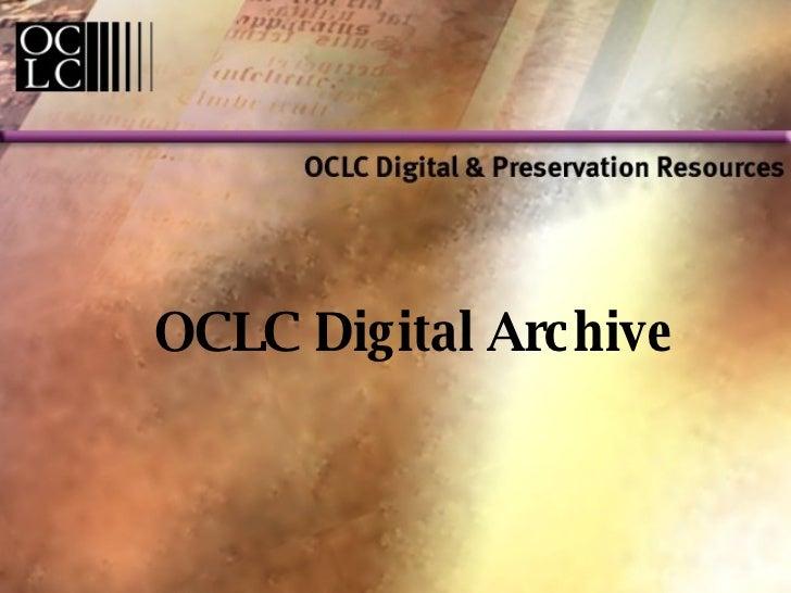 OCLC Digital Archive
