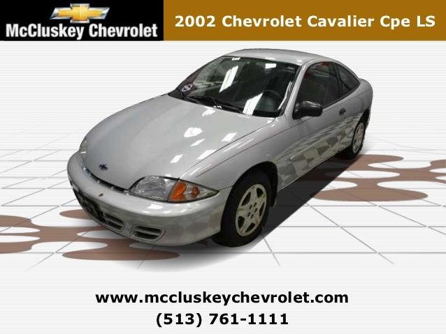 Used 2002 Chevrolet Cavalier Cpe LS - Kings Automall Cincinnati, Ohio