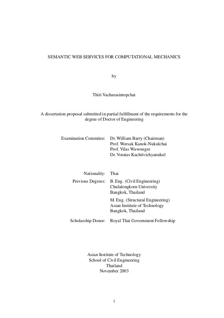 SEMANTIC WEB SERVICES FOR COMPUTATIONAL MECHANICS                                        by                             Th...