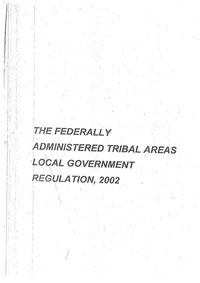 2002 FATA Local Government Regulation