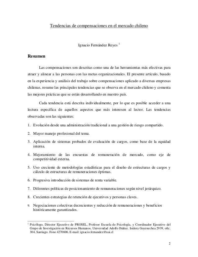 Tendencias de compensaciones en el mercado chilenoIgnacio Fernández Reyes 1ResumenLas compensaciones son descritas como un...