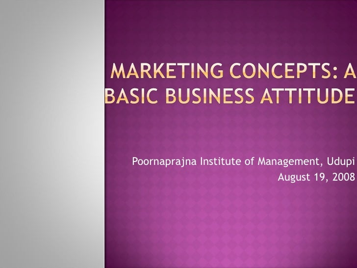 B.V.Raghunandan-Marketing Concepts
