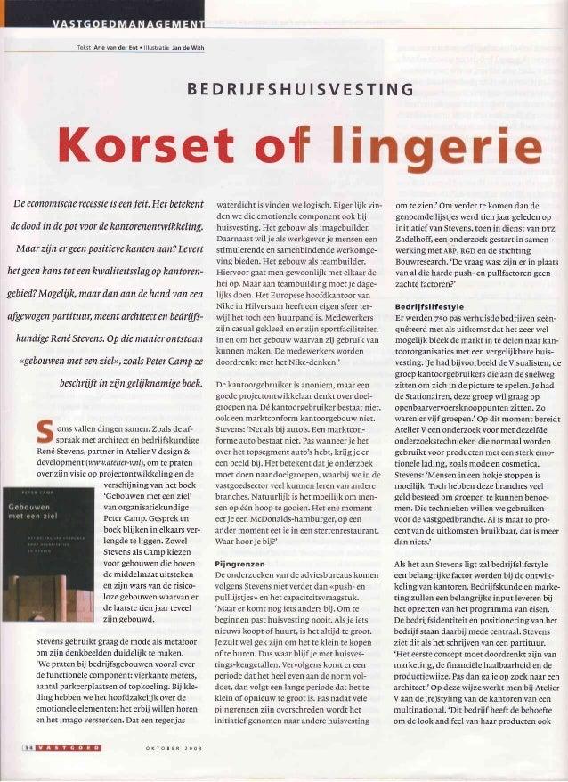 Tekst Arie van der Ent . lllustrêtie Jan de With B E D R I J F S H U I S V E S T I N G Korset o{ Deeconomischerecessieisee...