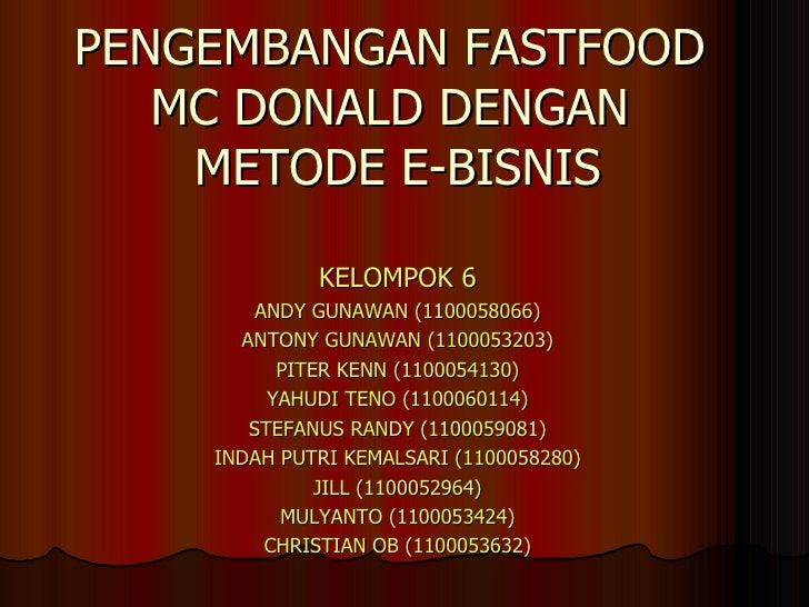 2003 Pengembangan Fastfood