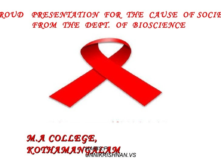 A  PROUD  PRESENTATION  FOR  THE  CAUSE  OF SOCIETY  FROM  THE  DEPT.  OF  BIOSCIENCE M.A COLLEGE, KOTHAMANGALAM HARIS.P U...