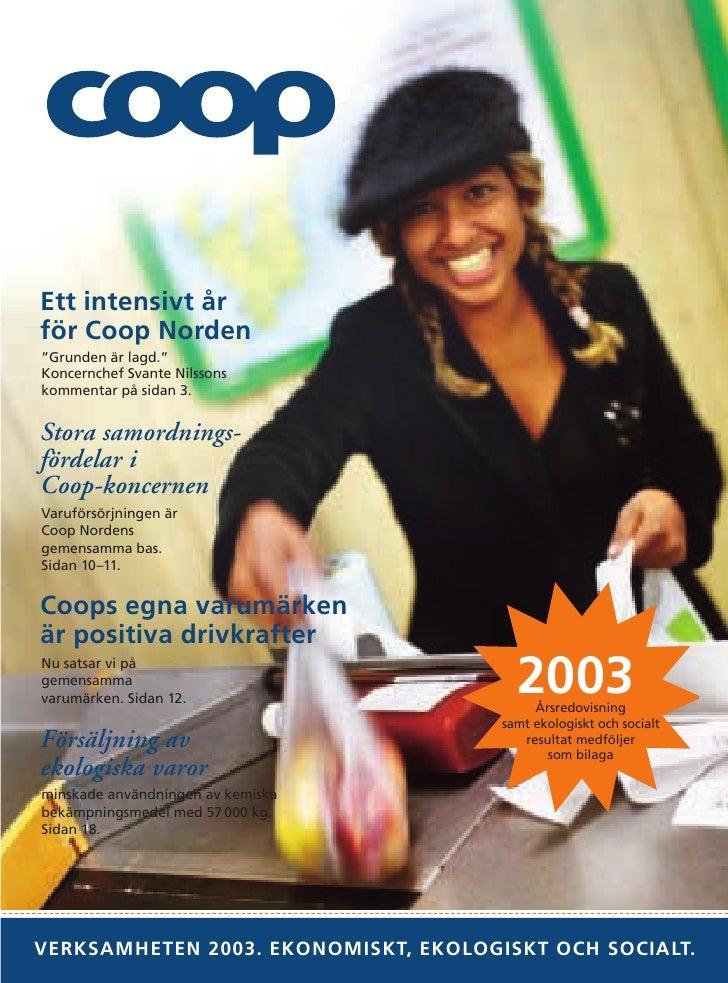 Coop Verksamhetsberättelse 2003