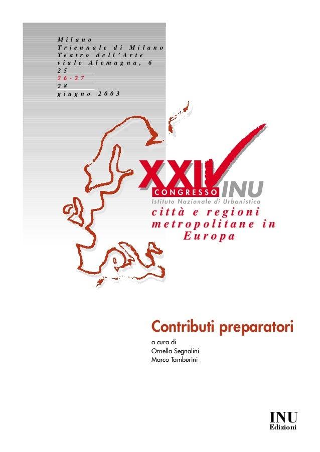 2003 XXIV congresso INU - Istituto Nazionale di Urbanistica