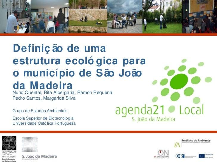 Definição de uma estrutura ecológica para o municipio de São João da Madeira