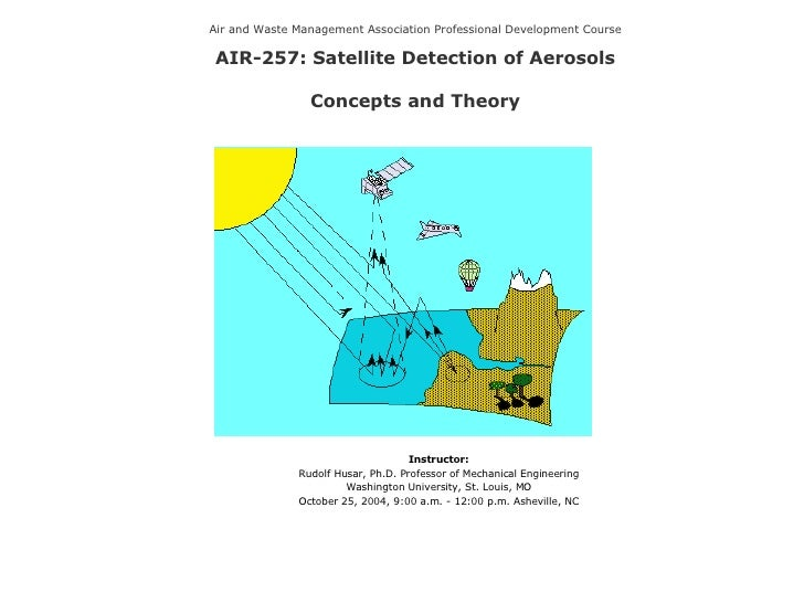 Air and Waste Management Association Professional Development Course AIR-257: Satellite Detection of Aerosols Concepts and...