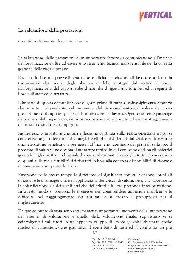 20041101   la valutazione delle prestazioni come strumento di comunicazione integrata