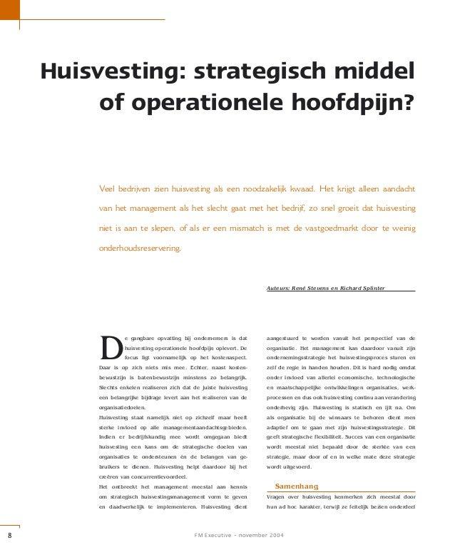 Huisvesting: strategisch middel of operationele hoofdpijn?