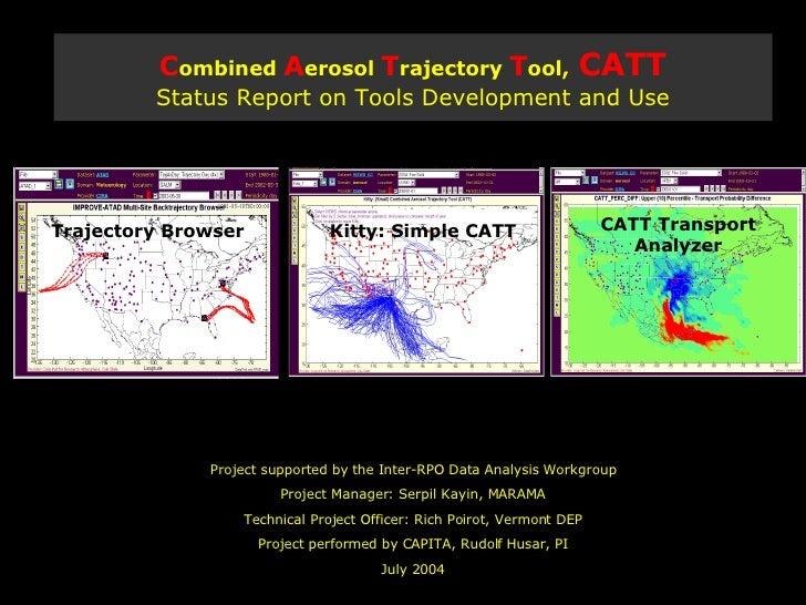 2004-12-19 Combined Aerosol Trajectory Tool, CATT:Status Report on Tools Development and Use