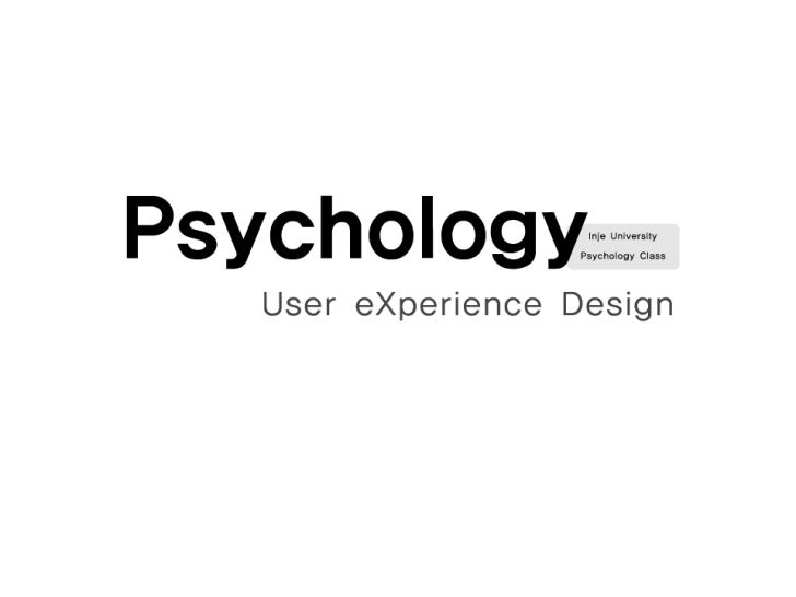 User eXperience Design Psychology