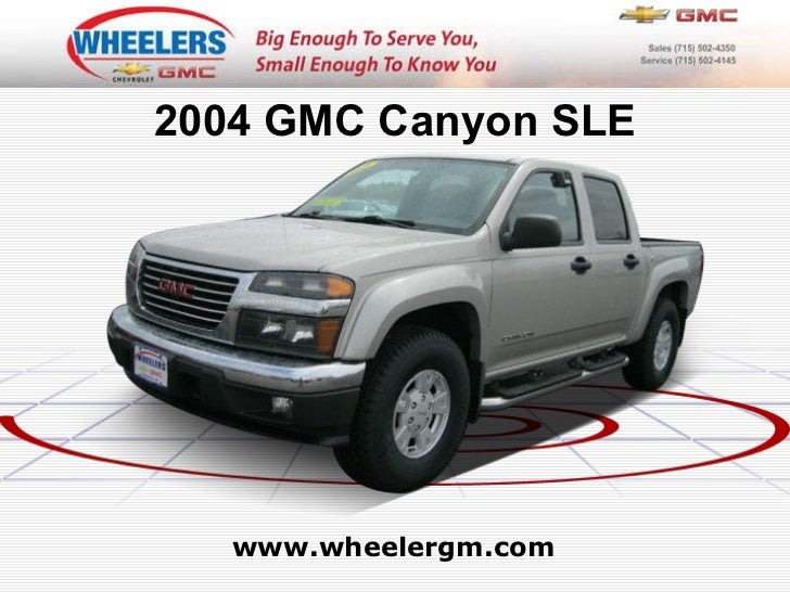 Used 2004 GMC Canyon SLE at Marshfield, Wausau, Stevens Point, WI