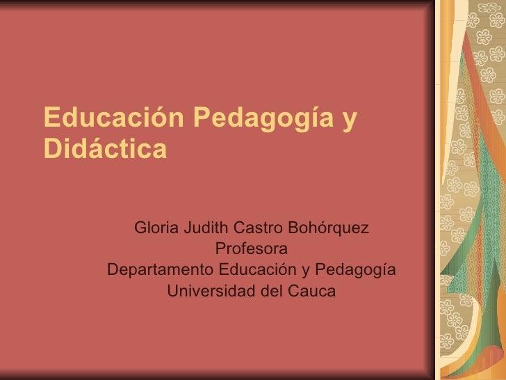 2005 02 07 Educacion Pedagogia Didactica