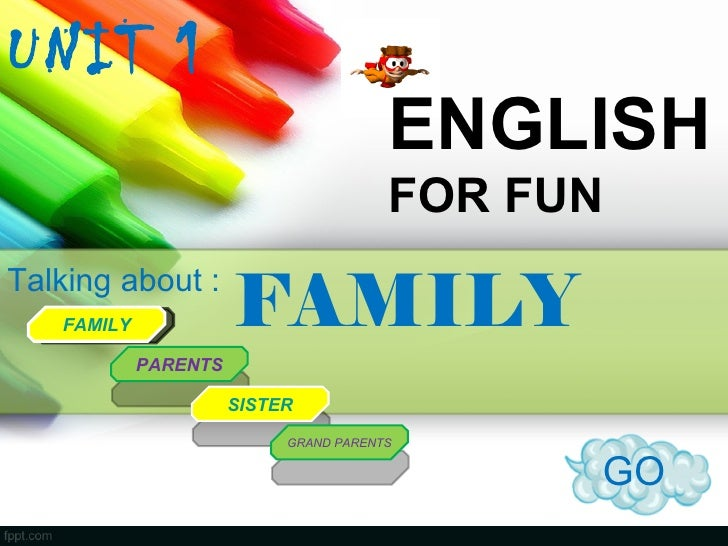 UNIT 1                                       ENGLISH                                       FOR FUNTalking about :   FAMILY...