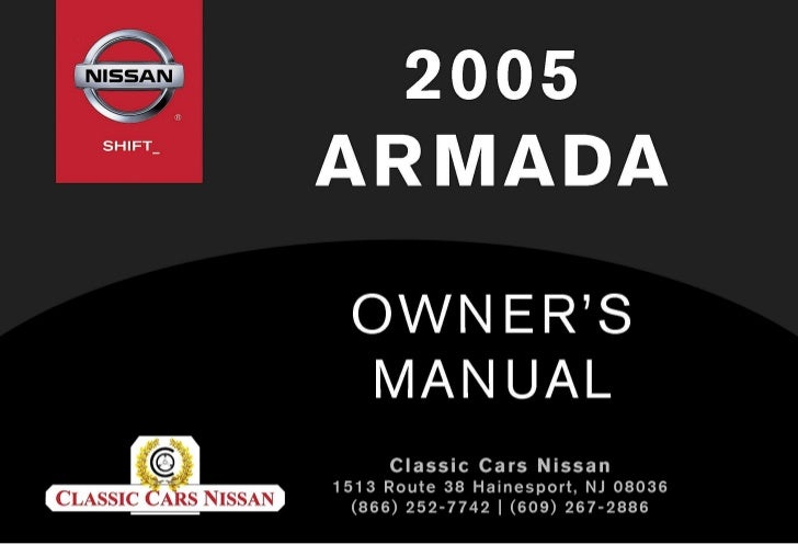 2005 ARMADA OWNER'S MANUAL