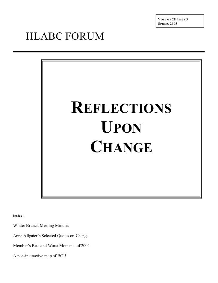 HLABC Forum: Spring 2005