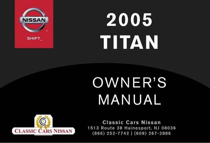 2005 TITAN OWNER'S MANUAL