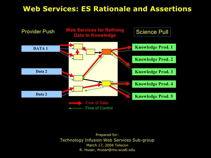 Web Services: ES Rationale and Assertions <ul><li>Prepared for: </li></ul><ul><li>Technology Infusion Web Services Sub-gro...